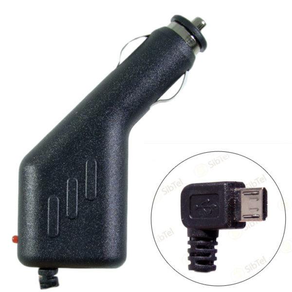 Автомобильный блок питания microUSB LF-6 GPS 5V2A = 0.5A 1.5m (угловой штекер)