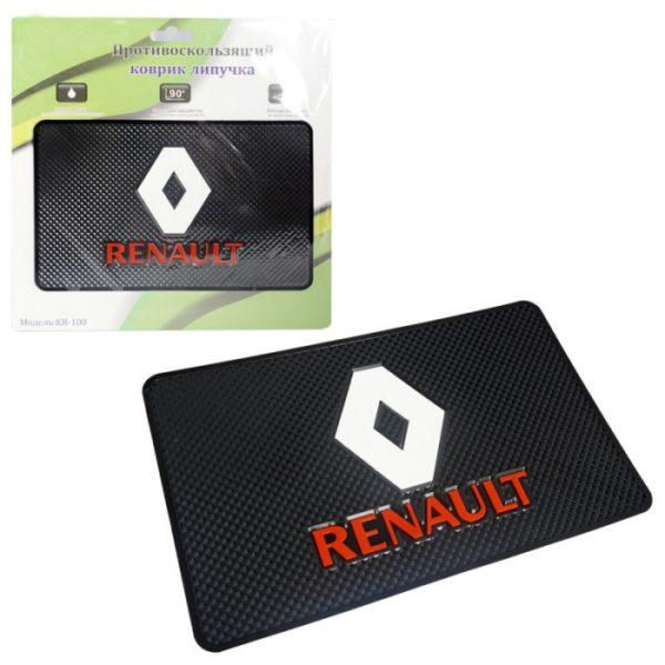 """Коврик автомобильный силикон KR-100 """"RENAULT"""