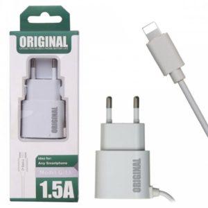 Сетевое зарядное Lightning G13 (1.5A=1.5A) white